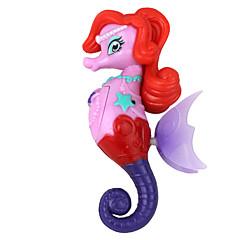 nado la inducción de electrones juguete caballito de mar multicolor de la princesa púrpura rojo