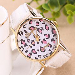 Women's European Style Fashion Geneva Leopard Leather Wrist Watch Cool Watches Unique Watches