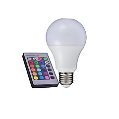 1 pcs E27 5W 6000K High Power LED 350-420LM RGB A Remote-Controlled Globe Bulbs AC 85-265V
