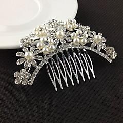 ασημένια χτένες κρύσταλλο μαργαριτάρι μαλλιά για κοσμήματα γαμήλιο γλέντι κυρία