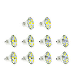 2W GU4(MR11) LED Spotlight MR11 12 SMD 5730 200-250 lm Warm / Cool White DC12V 10 pcs