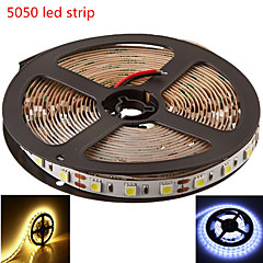 5M SMD5050 300LED Warm/Cool White Color LED Strip Light(DC12V)