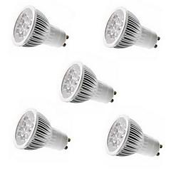 5pcs 5W GU10 / GU5.3 / E27 / E14 5LEDs 550lm luz caliente / frío color blanco llevó luces del punto (85-265V)