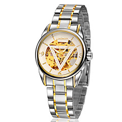 Herren Modeuhr Quartz Armbanduhren für den Alltag Edelstahl Band Gold Marke-