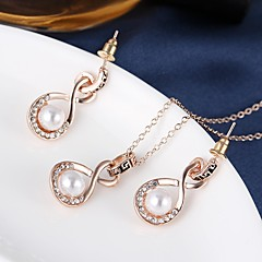 Vintage Elegant Luxury Imitation Pearl Jewelry Set Necklace/Earrings Wedding / Party / Daily 1set