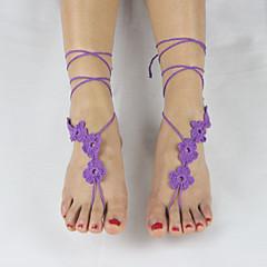 Kadın Ayak bileziği/Bilezikler Kumaş Moda Ayarlanabilir Çok güzel Mücevher Uyumluluk Düğün Parti Günlük