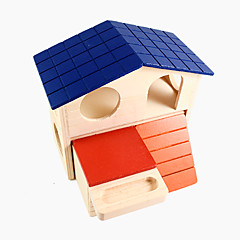 hamster petit animal couleur maison cabine double 1piece