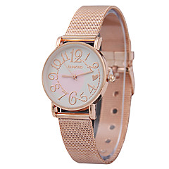 Couple's Fashion Watch Quartz Alloy Band Heart shape Charm Rose Gold