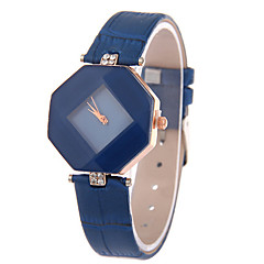 Women's Leather Band Analog Quartz Rhombus Case  Wrist Watch Fashion Watch Cool Watches Unique Watches