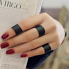 Ring Fashion / Adjustable Daily / Casual Jewelry Women / Men Midi Rings / Band Rings 3pcs,One Size Silver