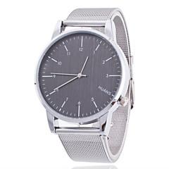 גברים שעוני שמלה קווארץ שעונים יום יומיים מתכת אל חלד להקה כסף מותג-