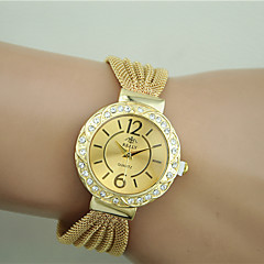 Women's Fashion Watch Bracelet Watch Imitation Diamond Quartz Alloy Band Black Silver Brown Gold