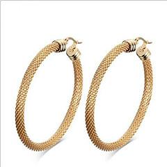 Damskie Modny Wyrazista biżuteria Europejski Stal tytanowa 18K złoty Geometric Shape Biżuteria Na Impreza Codzienny Casual