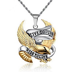 Men's Pendant Necklaces Pendants Cross Animal Shape Eagle Stainless Steel Personalized Punk European Jewelry For Party Daily Casual