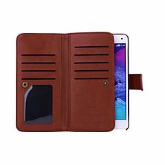 Magnet abnehmbare Brieftasche voller Körperledertasche mit Kartenslots für Samsung-Galaxie Hinweis4 / Hinweis5