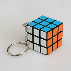 Cube de Vitesse  3*3*3 Porte-clés Cubes magiques Rouge PVC Plastique