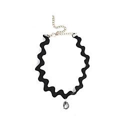 Γυναικεία Κολιέ Τσόκερ απομίμηση διαμαντιών Κρεμαστό Μοντέρνα Λευκό Μαύρο Κοσμήματα Καθημερινά Causal 1pc