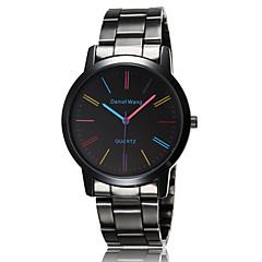 Masculino Relógio de Pulso Quartz Impermeável Aço Inoxidável Banda Preta / Marrom marca-