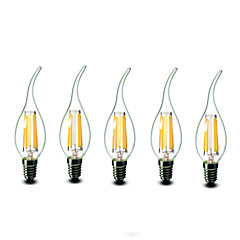 5 pcs shenmeile E14 6W 6 COB 600 lm Warm White CA35 Dimmable LED Candle Lights AC 220-240 V