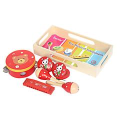 Çocukların tüm müzik aletleri oyuncak ahşap sarı müzik aletleri
