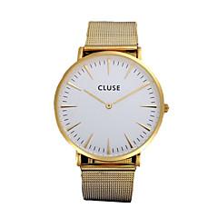 Hombre / Mujer / Unisex Reloj de Moda Cuarzo Cronógrafo Aleación Banda Negro / Plata / Dorado Marca-