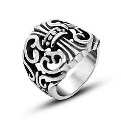 Anéis Fashion Diário Jóias Anéis Grossos 1pç,Tamanho Único Prateado