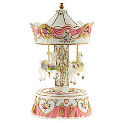 ABS Yellow/Pink Creative Romantic Music Box for Gift