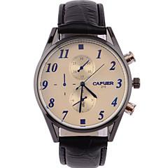 Herren Armbanduhr Öko-Uhrwerk Armbanduhren für den Alltag Leder Band Schwarz / Braun Marke-
