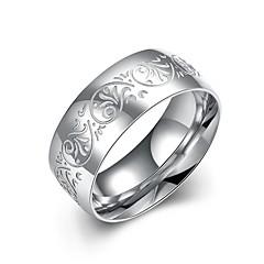 lureme® Vintage Unisex Stainless Steel Flower Carved Ring