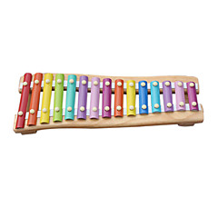 الخشب الأصفر يد الطفل تدق البيانو للأطفال في جميع الآلات الموسيقية لعبة