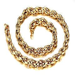 9MM/56CM Titanium Steel gold Necklace Pendant Necklaces Daily / Casual