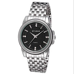 Men's Solid Stainless Steel Fashion Dress Watch Wrist Watch Cool Watch Unique Watch