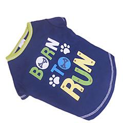 Verano - Azul Algodón - Camiseta - Perros - XS / S / M