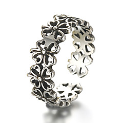 Unisex Vintage Pattern Punk Hollow Clover Antique Sterling Silver Ring Band Rings Daily / Casual 1pc