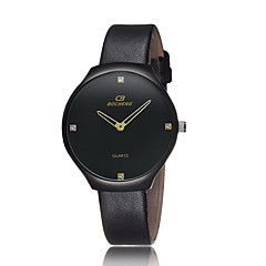 Couple's Classic Leather Brand Quartz Dress Wristwatch Water Resistant Fashion Watch(Assorted Color) Cool Watches Unique Watches
