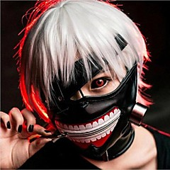 hűvös cosplay tokyo ghoul kaneki ken halloween party állítható cipzárral prop maszk