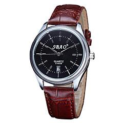 Fashion Quartz Casual Business New Round Dial Calendar Couple's Wrist Watches