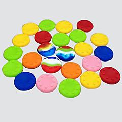 20 st cmpick PS2 / PS3 / PS4 xboxone / xbox360 rocker silikonhättan knapp mössa handtag joystick hatt (slumpvis färg)