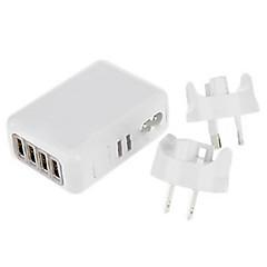 4 porte USB Porte Multi Presa EU / Presa Uk / Presa US / Presa AU caricatore domestico Solo Chargerper iPad / per il cellulare / Per