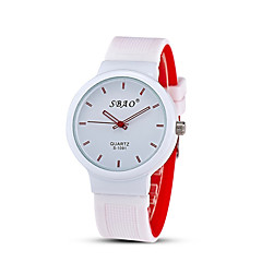 Men's Fashion Quartz Casual Jelly Silicone Multi-Colored Simple Student Watches