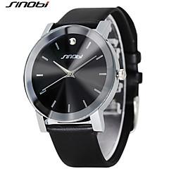Masculino Relógio de Moda Quartz Impermeável / Resistente ao Choque PU Banda Preta marca