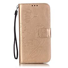 Na Samsung Galaxy Etui Etui na karty / Portfel / Z podpórką / Flip / Wytłaczany wzór Kılıf Futerał Kılıf Kwiat Miękkie Skóra PU SamsungS7
