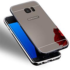 のために Samsung Galaxy S7 Edge メッキ仕上げ ケース バックカバー ケース ソリッドカラー PC Samsung S7 edge / S7 / S6 edge plus / S6 edge / S6