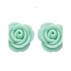 Earring Flower Stud Earrings Jewelry Women Fashion Daily / Casual Resin 1 pair Light Green