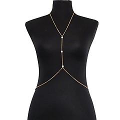 Γυναικεία Κοσμήματα Σώματος Αλυσίδα για την Κοιλιά Body Αλυσίδα / κοιλιά Αλυσίδα Μαργαριτάρι Απομίμηση Μαργαριταριού Sexy Χρυσαφί