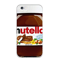 para el caso suave de 7 iphone tuerca patrón de mermelada de TPU para el iphone 6s 6 más