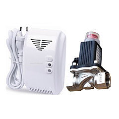 Alarm gaz lpg wykrywacz nieszczelności z zaworem DN15 elektromagnetycznego elektromagnetyczne Automatyczne wyłączanie