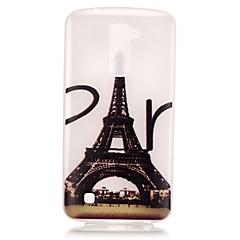 Varten LG kotelo Hehkuu pimeässä / Kuvio Etui Takakuori Etui Eiffelin torni Pehmeä TPU LG LG K10 / LG K8 / LG K7