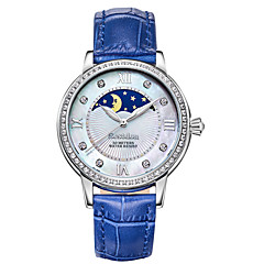 Bestdon® Ladies'/Women's Watch Schoolgirl Fashion Rhinestone Moon Phase Water Resistant  Japanese Quartz Leather Belt Vintage Wristwatch