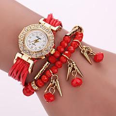 לנשים שעוני אופנה / שעון יד / שעון צמיד קווארץ / עור להקה פרח / בוהמי שחור / לבן / כחול / אדום / ורוד / סגול מותג